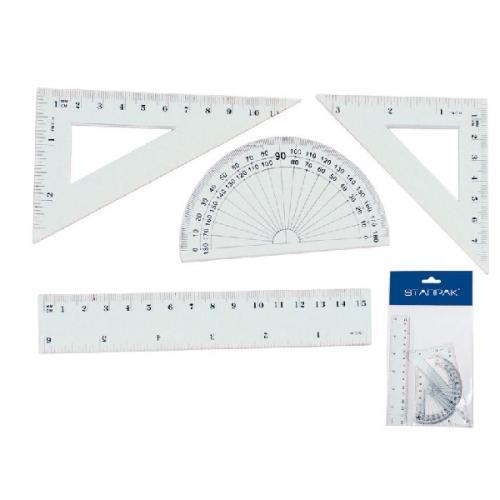 Zestaw geometryczny 4 elementy STARPAK 174930