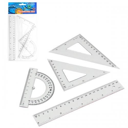 Zestaw geometryczny 4 elementy STARPAK 174931