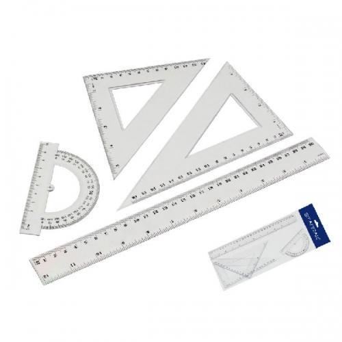Zestaw geometryczny 4 elementy, 30cm