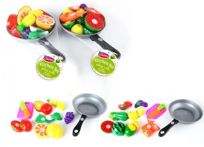 Owoce i Warzywa do krojenia z patelnią MEGA CREATIVE 405856