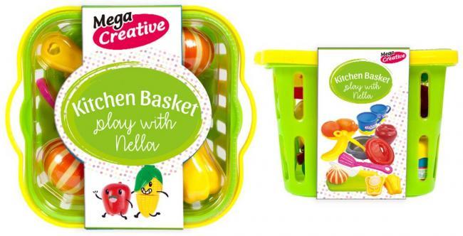 Owoce i Warzywa do krojenia w koszyku MEGA CREATIVE 452167
