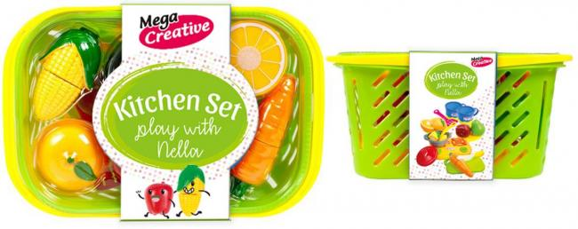 Owoce i warzywa Nella w koszu MEGA CREATIVE 452168