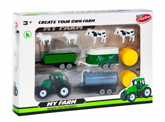 Traktor Moje Ranczo Farma z akcesoriami MEGA CREATIVE 462665