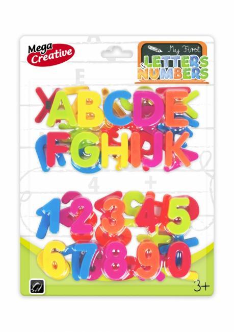 Literki/Cyferki Edukacyjne magnetyczne MEGA CREATIVE 462721