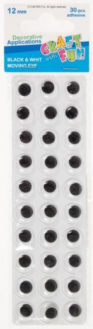 Ozdoby dekoracyjne samoprzylepne Oczy 12 mm CRAFT WITH FUN 290112