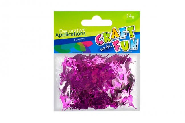Confetti metaliczne Renifery różowe CRAFT WITH FUN 290889