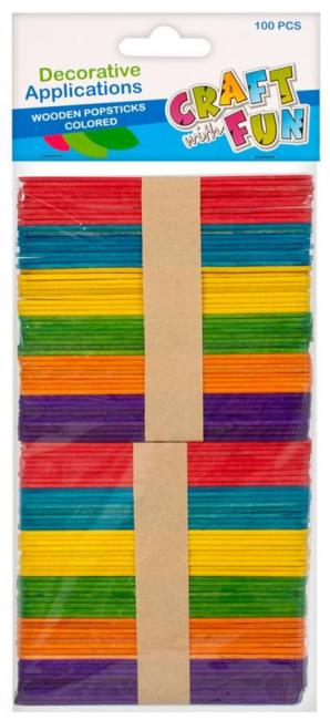 Patyczki drewniane dekoracyjne kolorowe CRAFT with FUN 291068