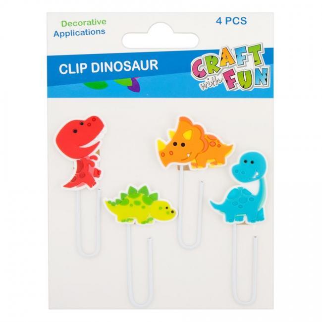 Ozdoba dekoracyjna spinacz ozdobny Dino CRAFT WITH FUN 441430