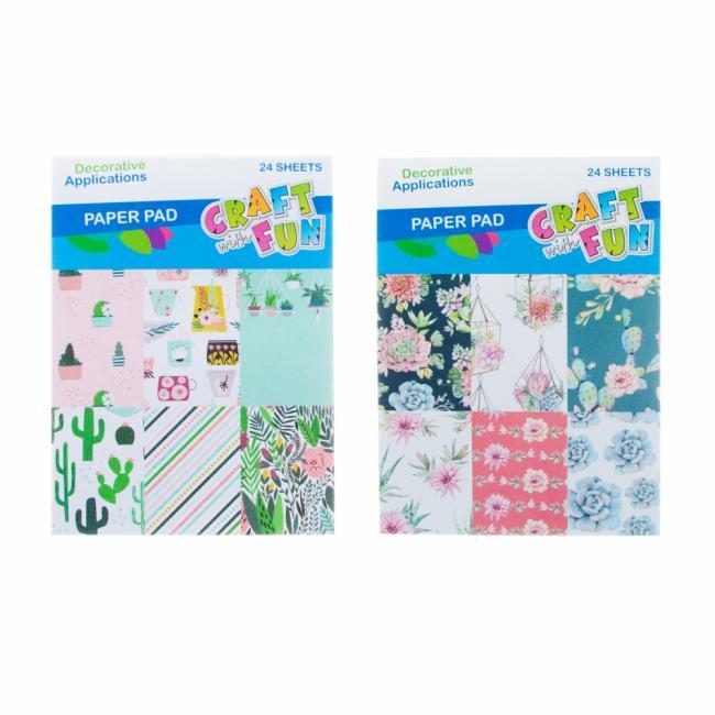 Zeszyt papierów kreatywnych Kwiaty CRAFT WITH FUN 464903