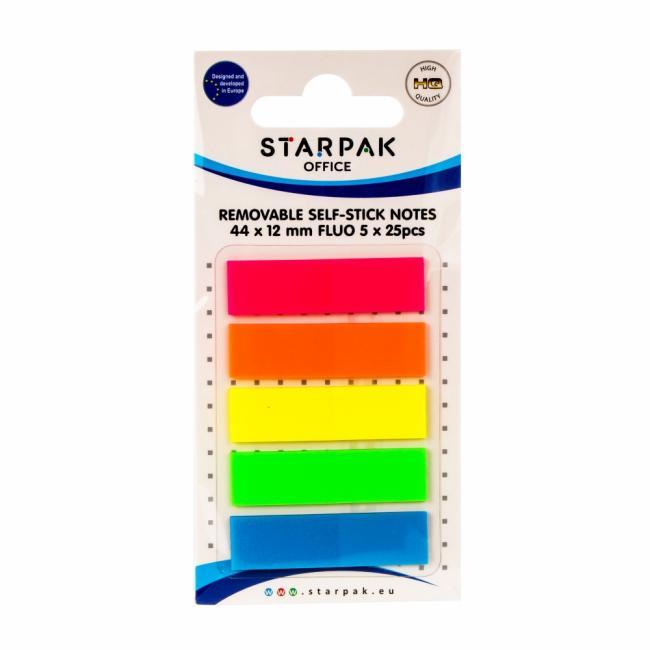Zakładka indeksująca 12X44 5X25 kartek fluo B/C STARPAK 471012