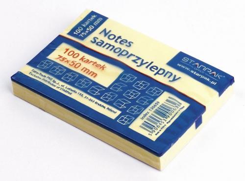 Notes samoprzylepny 75x50 mm STARPAK 130659