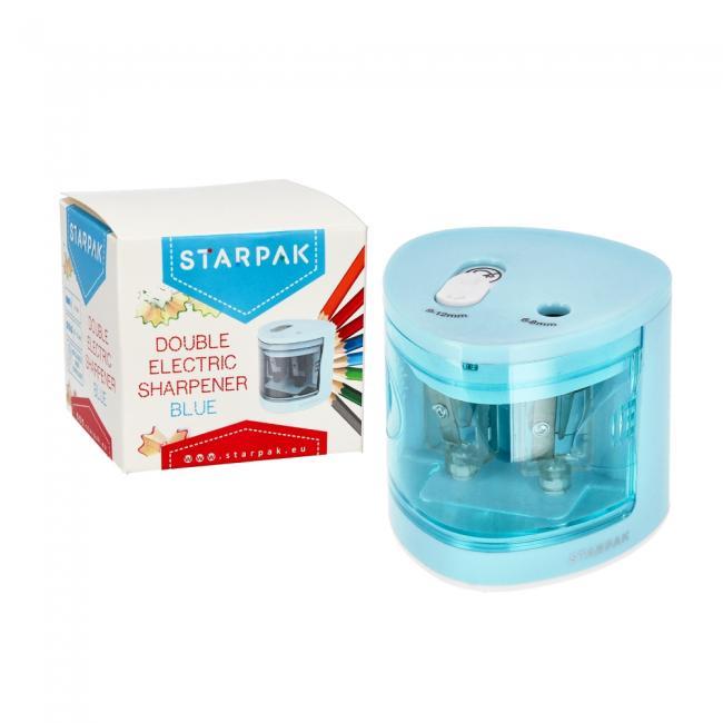 Temperówka elektryczna podwójna niebieska STARPAK 470857