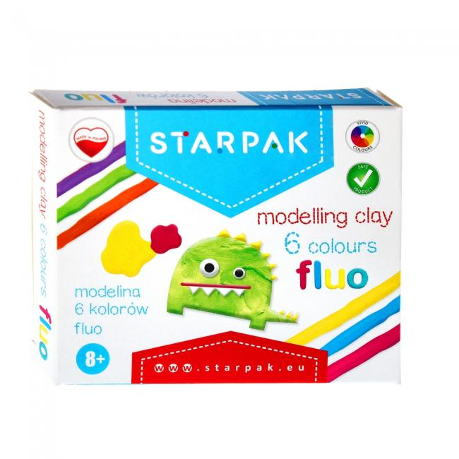 Modelina 6kol. fluor STARPAK 472925