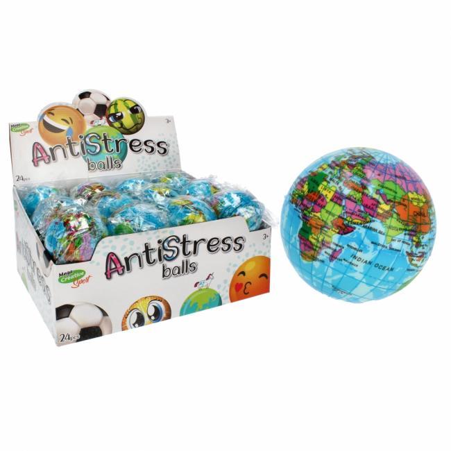 Piłka Antystresowa 7cm Globus MEGA CREATIVE 459630