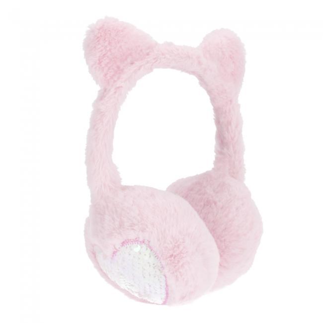 Nauszniki pluszowe Serce różowe STARPAK 477823