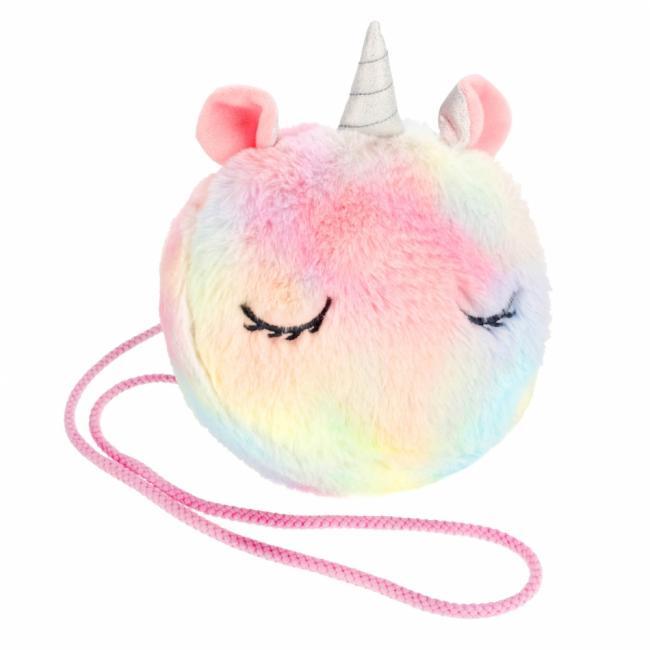 Torebka na ramię pluszowa Unicorn rainbow STARPAK 477814
